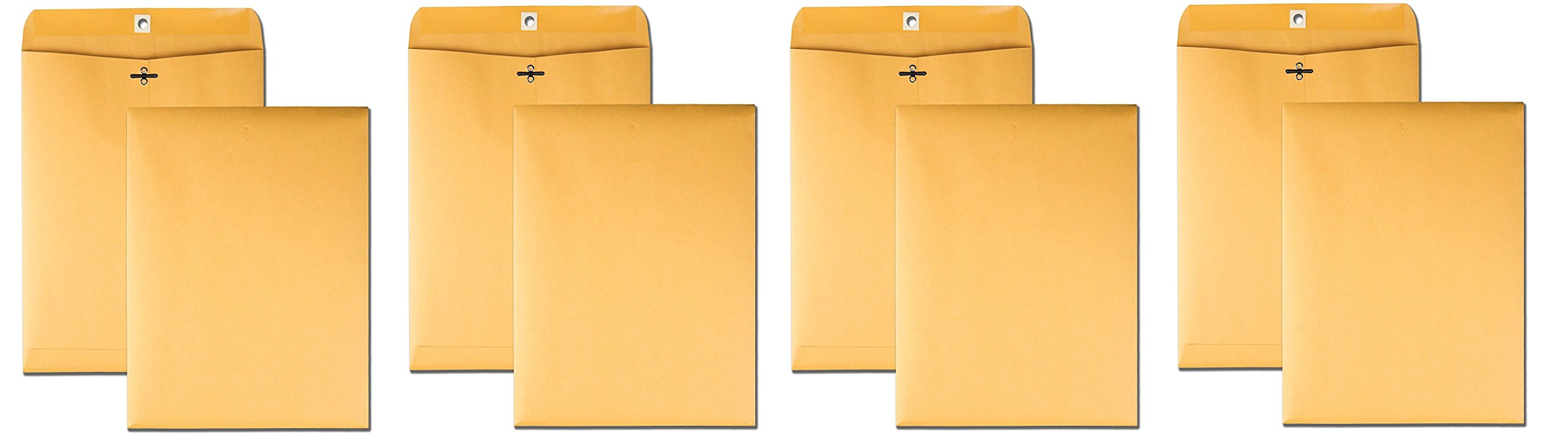Quality Park 9 x 12 Clasp Envelopes with Deeply Gummed Flaps, Great for Filing, Storing or Mailing Documents, 28 lb Brown Kraft, 100 per Box (37890) (1500 Envelopes)