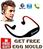 Wireless Bluetooth On-ear Sports Headset Headphones (with Micro Sd Card Slot and FM Radio) with free Egg mould
