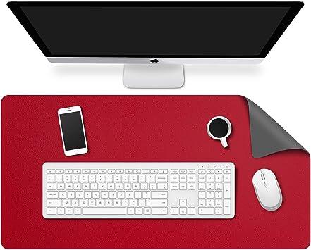 MoKo Alfombrilla de Escritorio para Ordenador, PU Tapete de Mesa Antideslizante y Impermable para Ratón, Teclado y Computadora para Casa y Oficina - ...