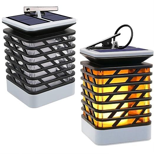 2 Packs Solar Lantern Light LED Solar Lights Night Light Auto On//Off/ Outdoor Decorative Hanging Garden Lantern for Outside or Table Patio Umbrella Lamp Tree Pool Pavilion Lawn Porch Yard