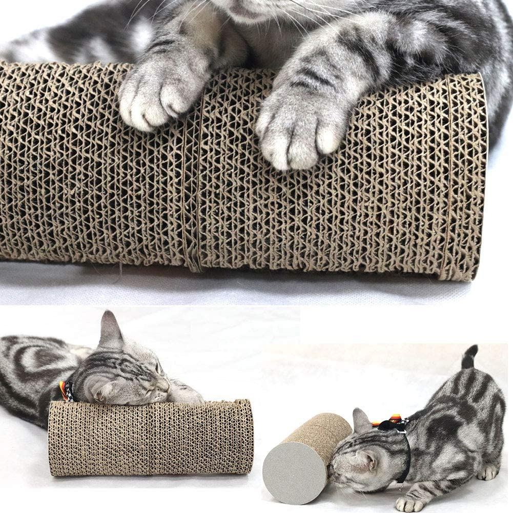 Hovome Cylindrical Belt Bell Ball Puzzle Cat Rolling Scratching Cat Scratch Pad