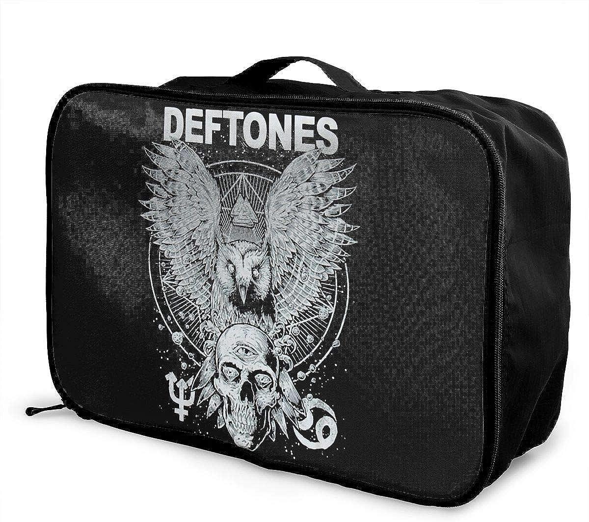 Deftones School Backpack Unisex School Bag Canvas Rucksack Laptop Book Bag Satchel Hiking Bag for Boys Girls
