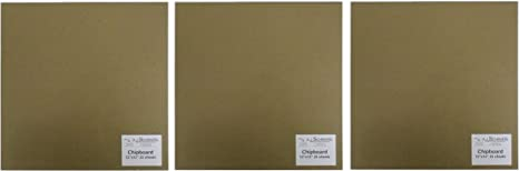 SPC Light Chipboard Sheets 12 x 12 Inches Tan-Chip-12-12 25 per Package