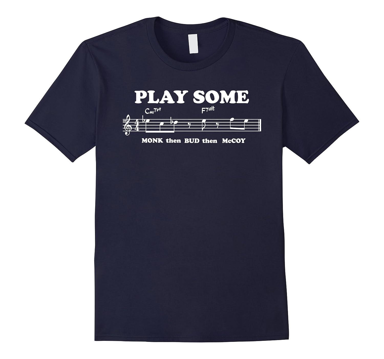 Mens Play Some Monk Bud McCoy piano jazz music t-shirt-Art