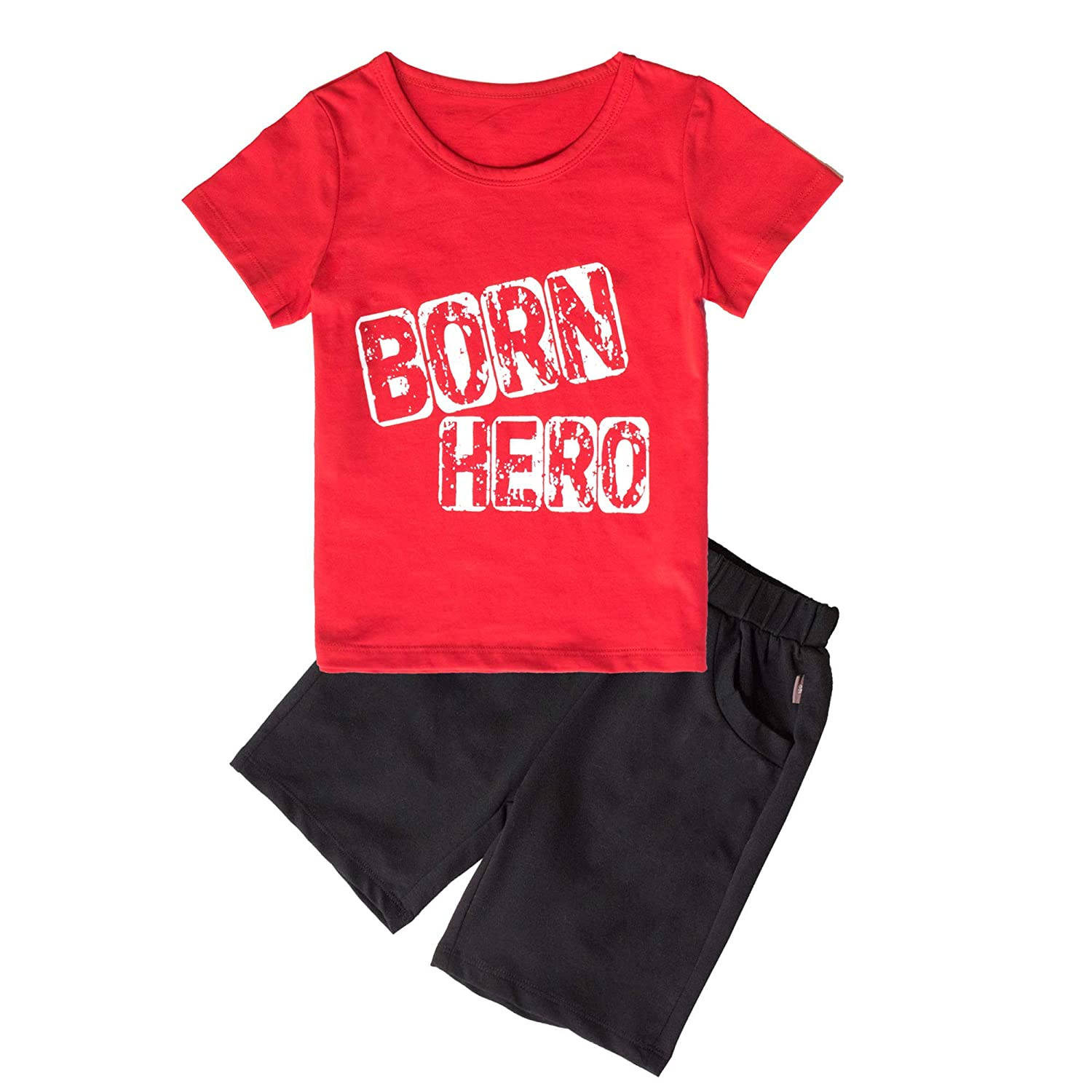 Little Boys Clothing Sets 2pcs Cotton T-Shirt and Shorts Boys Summer Kids Clothes Sets Outfits Suit