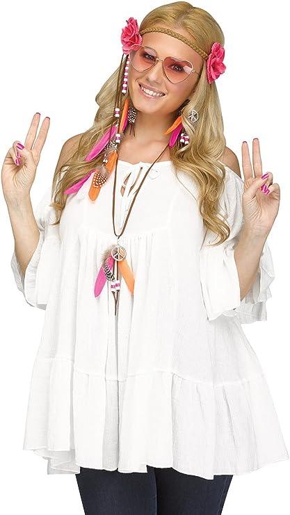 60s Costumes: Hippie, Go Go Dancer, Flower Child, Mod Style Fun World Groovy 60s Love Child Costume Kit $18.44 AT vintagedancer.com