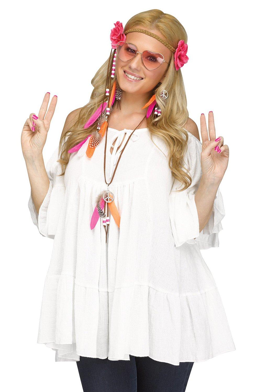 Fun World Women's Groovy 60s Love Child Costume Kit, Multi, Standard