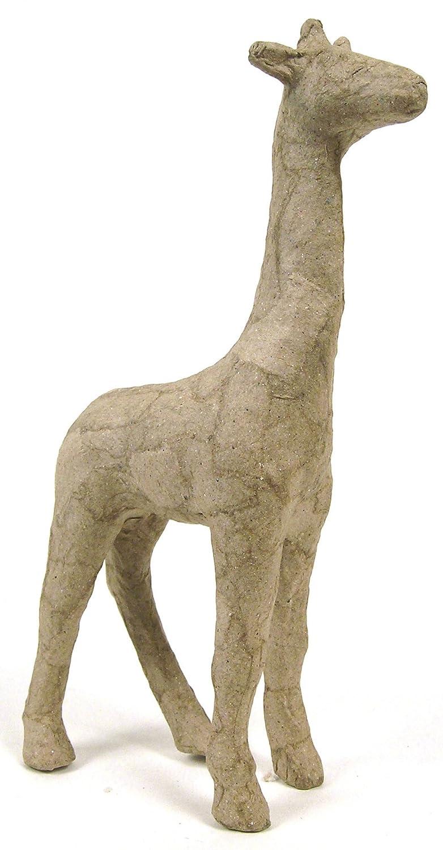 19 x 7 x 28 cm d/écopatch Mache Giraffe Brown