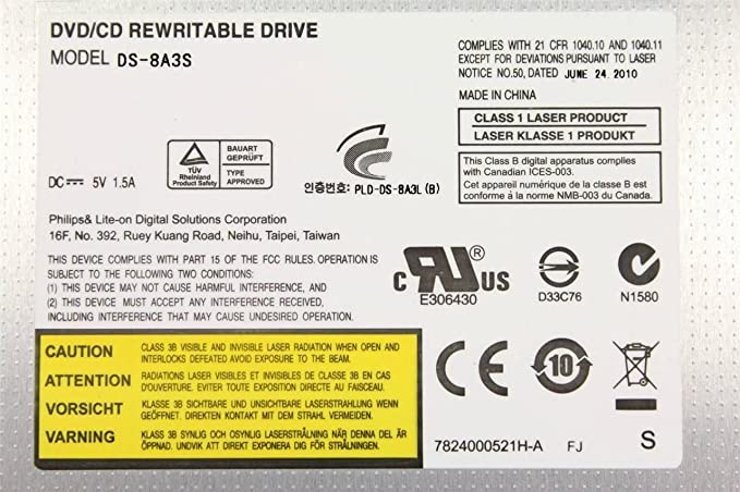 PLDS DVD -RW DS-8A3S ATA WINDOWS DRIVER