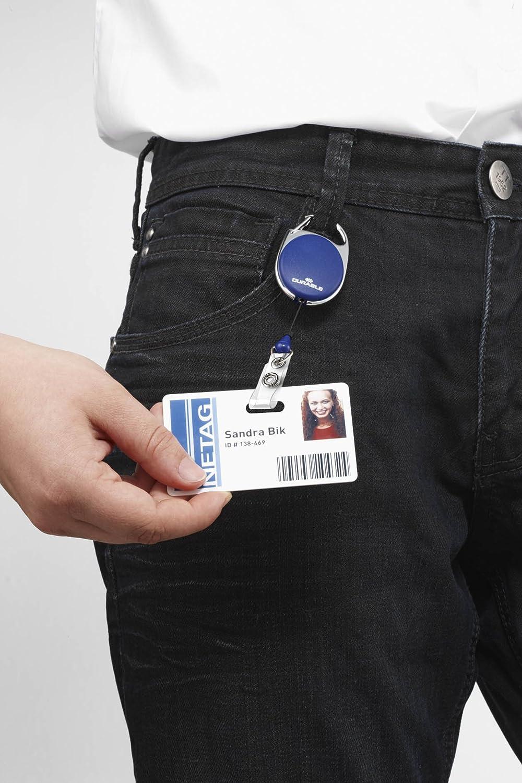 blu gancio integrato chiocciola yo-yo ovale confezione da 10 pezzi fascetta trasparente con bottone a pressione DURABLE 832407 Jojo Style
