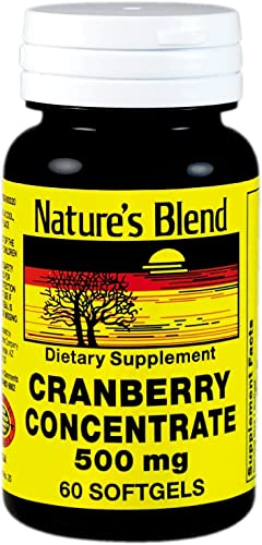 Nature s Blend Cranberry Concentrate 500 Mg 60 Softgels Pack of 6