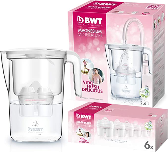 BWT Vida Manual – Jarra filtradora de agua con magnesio + Pack 6 ...