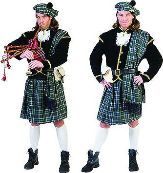 Fasching Fete Hombre Cuadros Disfraz con cuadros escoceses, M ...