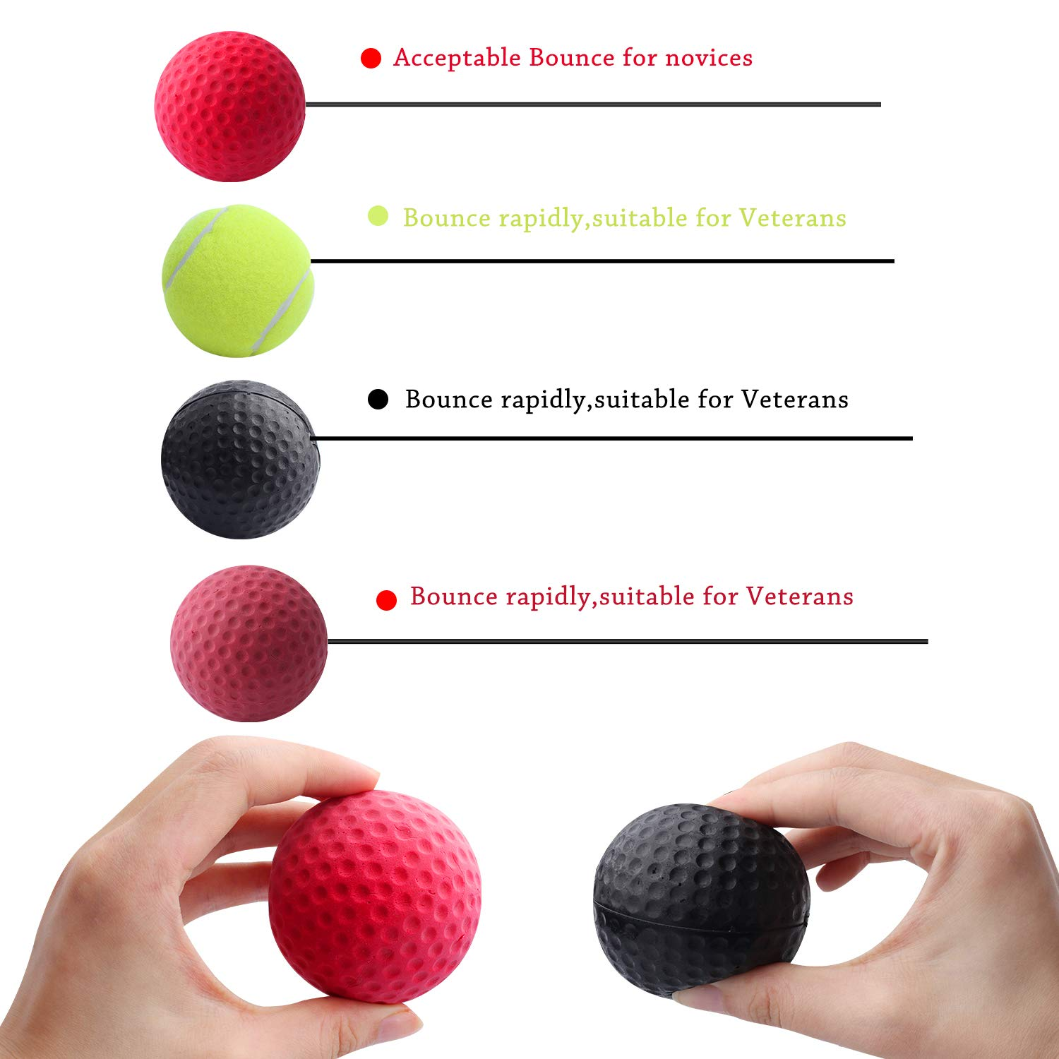 Standie Boxing Reflexes Balls 7PCS Boxing Headband Speed Balls for Adult//Kids Improving Punch Focus Sport Exercise Practice 7pcs