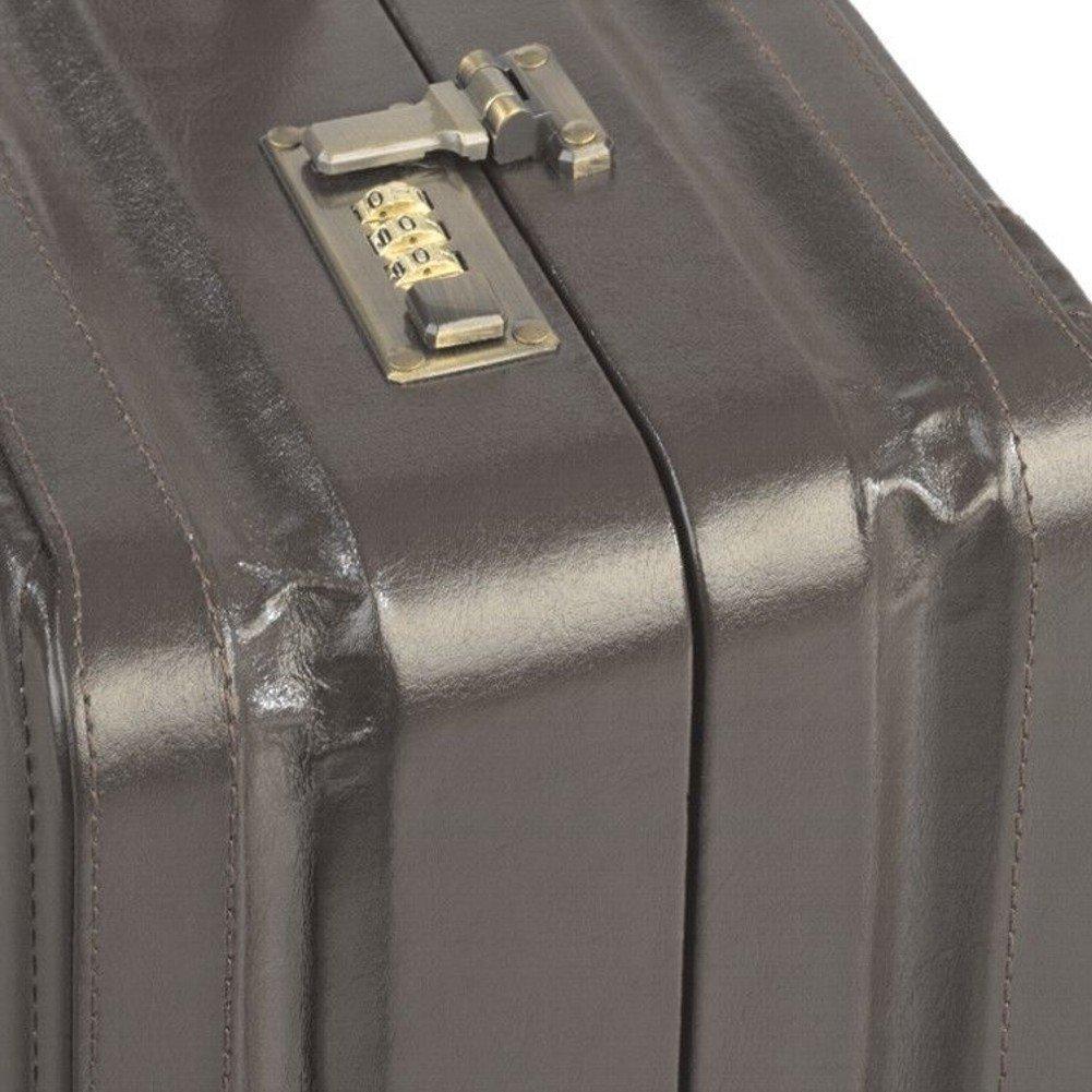 Valise Mallette Attach/é-Case Cuir Marron Avec Des Expansion Plis XL