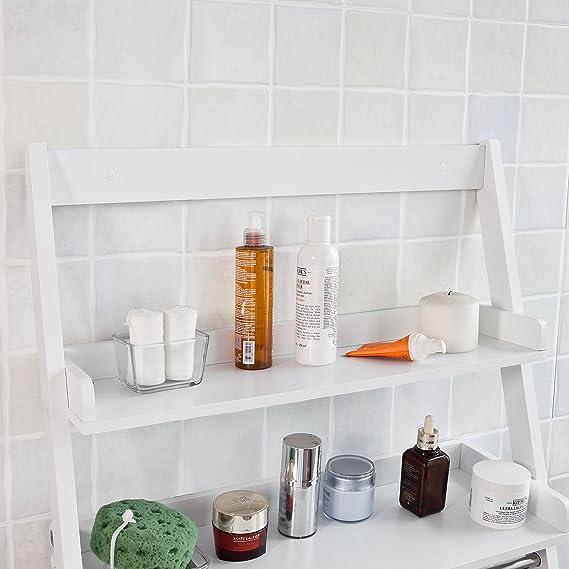 SoBuy® pared estantería, toallero, estantería de pared para baño ...