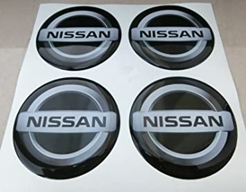 GTBTunning - 4 adhesivos Nissan - Medidas 60 mm - Color negro - Adhesivos resinados, efecto 3D, 3M - Ideales para tapacubos: Amazon.es: Coche y moto