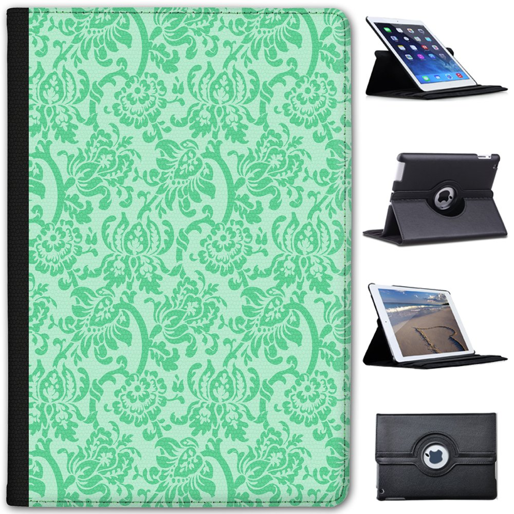 Fancy A Snuggle Mint Green Floral Wallpaper Design Faux Leather