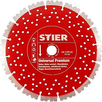 STIER Trennscheibe 230 x 1,9 x 22,23 gekr/öpft Inox//Stahl 25 Stk