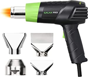 GALAX PRO 12.5 Amps 1500W Heat Gun with 2 Temperature Modes and 4 Nozzles for Stripping Paint, Soldering Pipes, Shrinking PVC