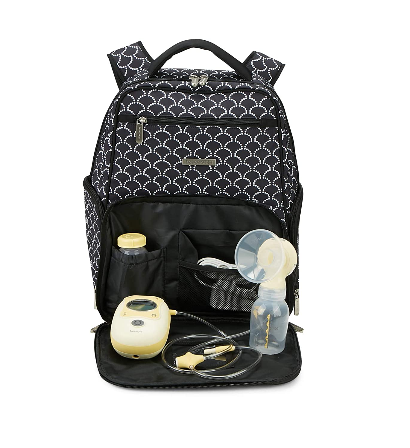 Cute Portable Carrying Bag Great for Travel or Storage Bananafish Madison Electric Breast Pump Backpack Fits Most Major Brands Including Medela and Spectra Accessory and Cooler Pockets