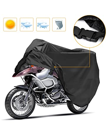 Korostro Funda para Motocicleta, Funda para Moto Cubierta Impermeable Funda Protector 190T, Cubierta de