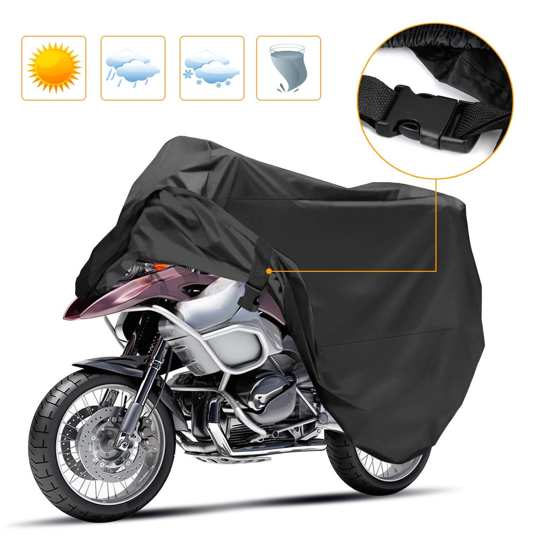 e69744004c6 Korostro Funda para Motocicleta, Funda para Moto Cubierta Impermeable Funda  Protector 190T, Cubierta de la Moto a Prueba de Polvo Protectora UV Aire  Libre ...