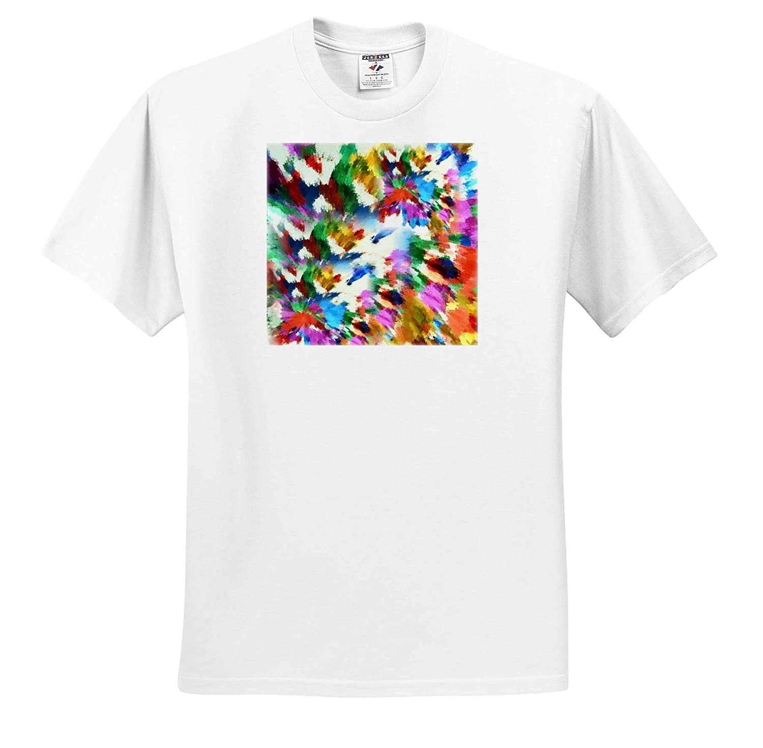 T-Shirts 3dRose Lens Art by Florene Digital Contemporary Image of Abstract Burst of Multi Colors
