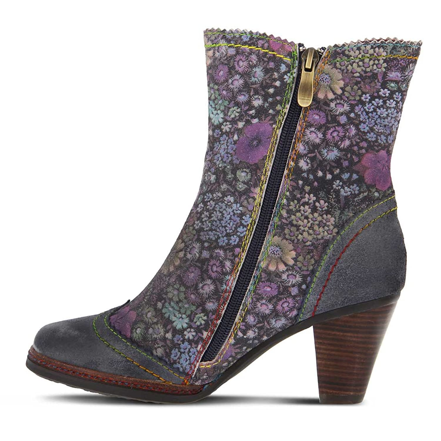 L`Artiste Womens Simonetta Blue Multi Boot - 38