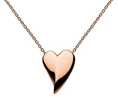 Kit Heath Women's Sterling Silver Lust Heart Necklace of Length 18 inch