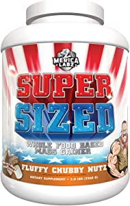 Merica Labz Super Sized Whole Food Mass Based Mass Gainer 5.0 lbs (Fluffy Chubby Nutz)