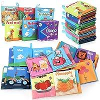 BeebeeRun Libros Blandos para Bebes 6 Piezas,Libro