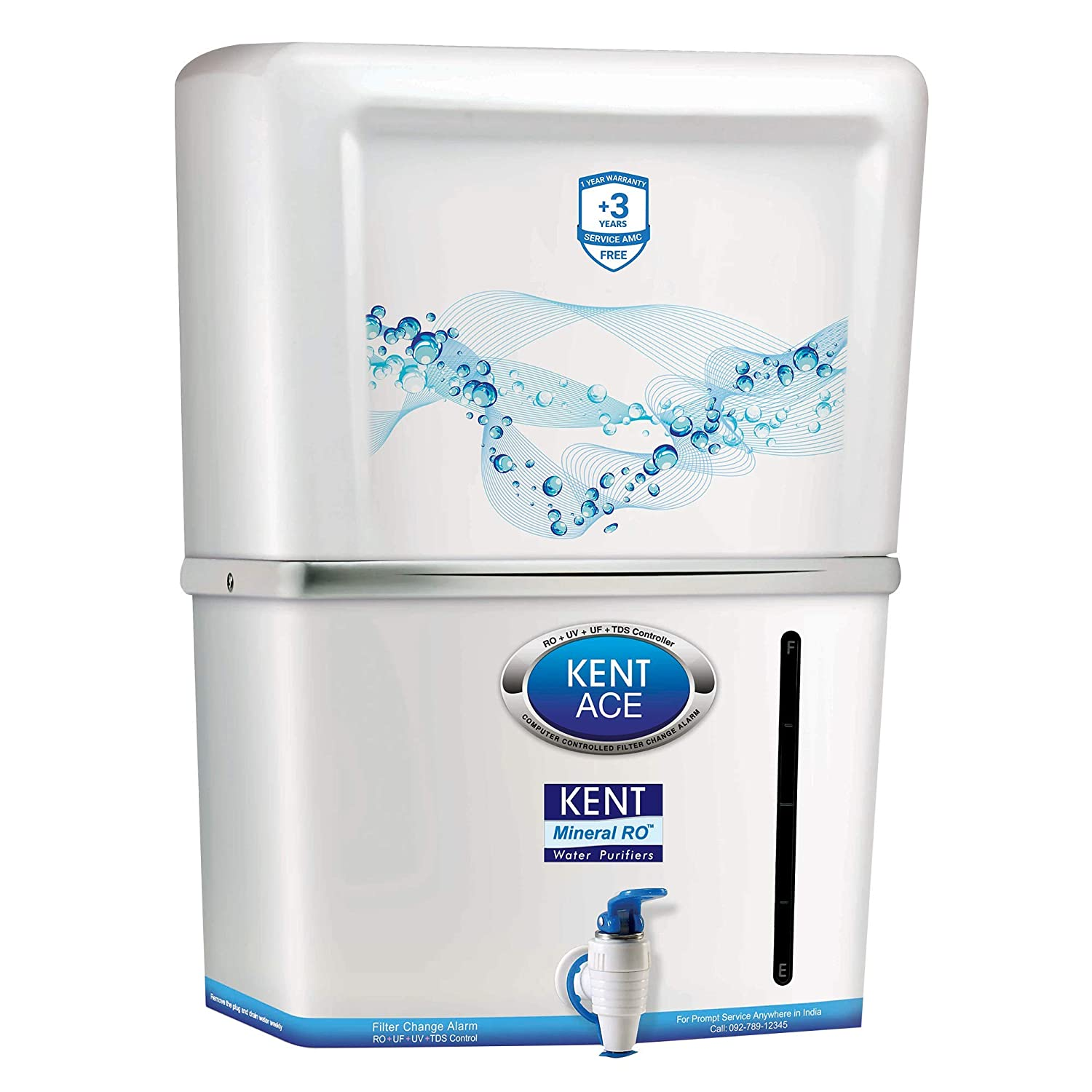 fc17688ff05 Kent Ace Mineral 7-Litre 60-Watt RO+UV+UF Water Purifier (White and  Aquamarine)  Amazon.in  Home   Kitchen