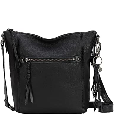 The Sak Ashland Leather Crossbody (Black)  Handbags  Amazon.com