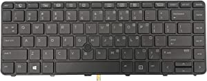 AUTENS US Keyboard for HP Probook 640 G2 / 640 G3 / 645 G2 / 645 G3 / 430 G4 / 440 G4 Laptop Backlight with Pointer Replacement