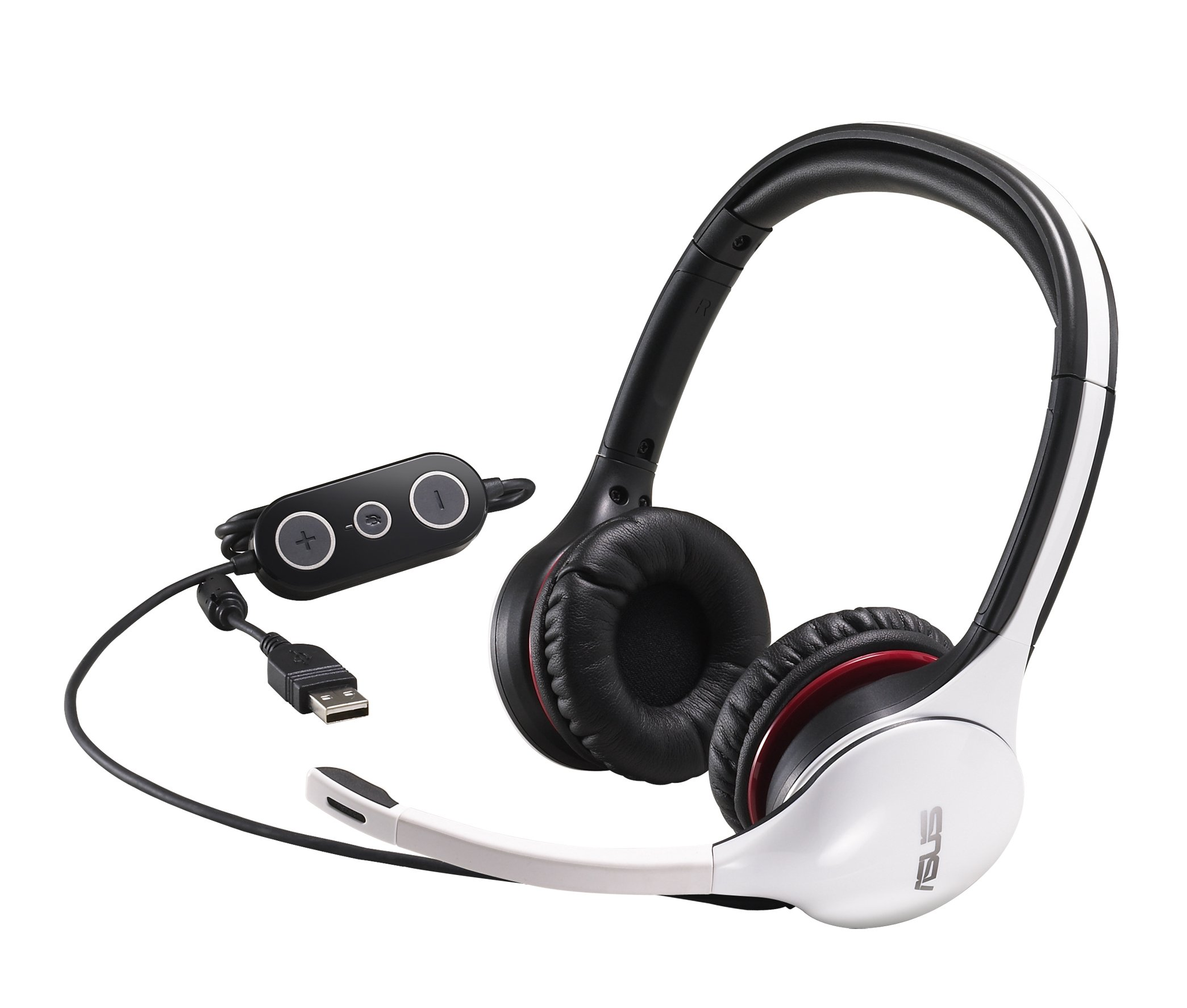 CineVibe Rumble-Feedback CINEVIBE/WHT/UBW/EU-VERSI USB Gaming Headset (White)