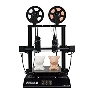 Tenlog TL-D3 Pro 3D Printer, Independent Dual Extruder 3D Printer with 4.3'' Touch Color Screen,Silent Mainboards TMC2208 Drive Support PVA TPU ABS PLA,Direct Feed FDM 3D Printer 11.8''x11.8''x13.8''