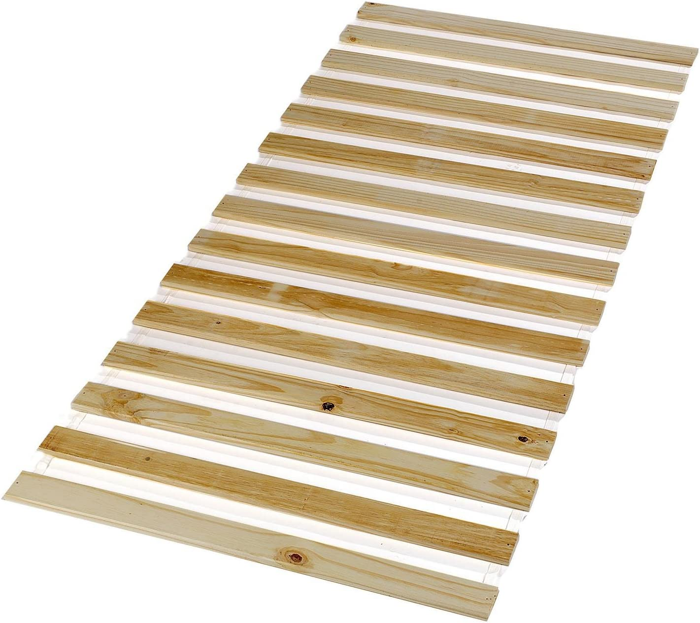 Somier de pino macizo, 15 listones, sin marco, 100 x 200 cm ...