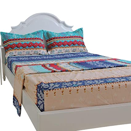 Brandream Luxury Boho Bedding Clearance King Size Sheets Set 100% Cotton Sheets  Set Deep Pocket