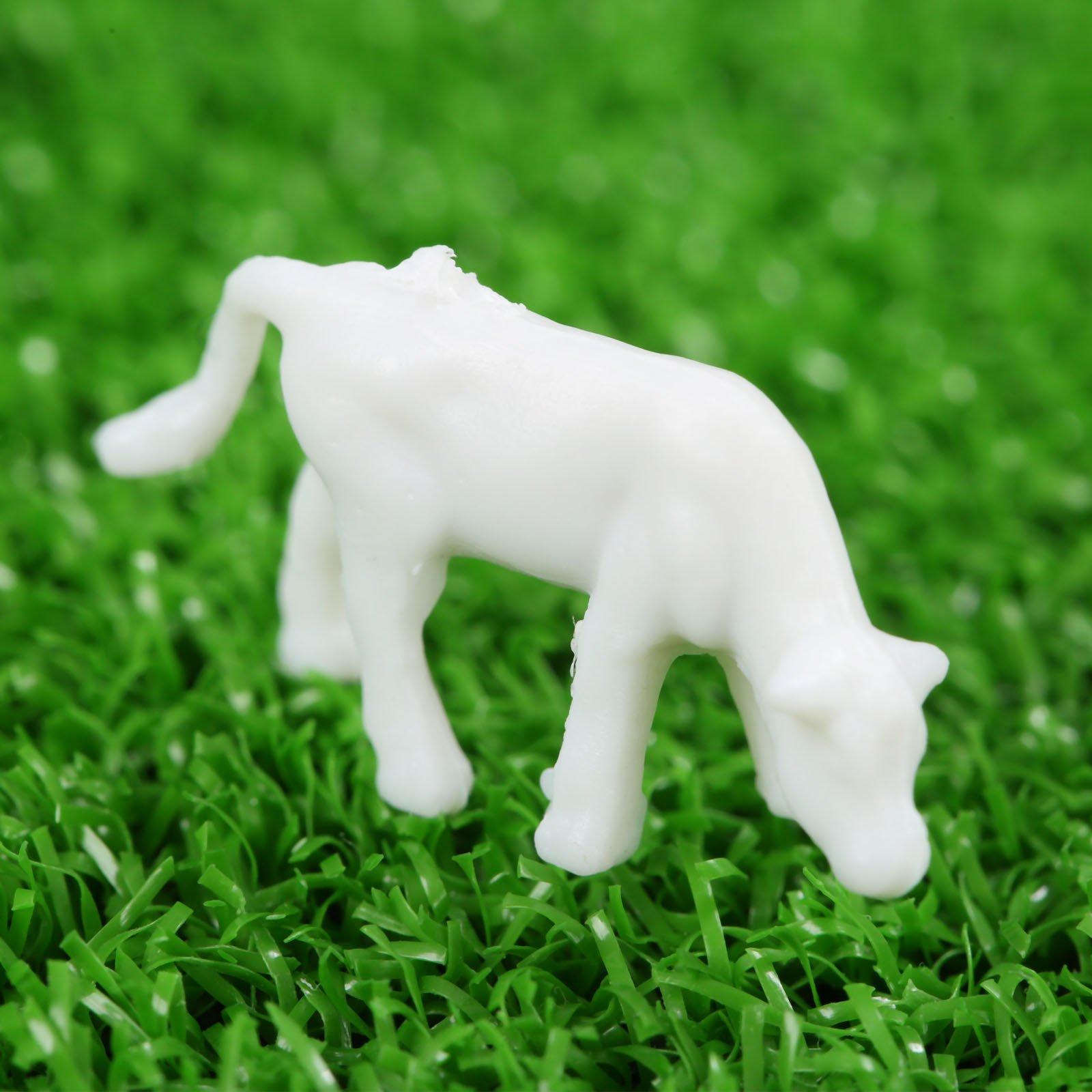 100pcs 1:150 Mixed Stowage White Horse H-13mm Scale Figure Plastic DIY Model Farm Animal Models Toy Set White