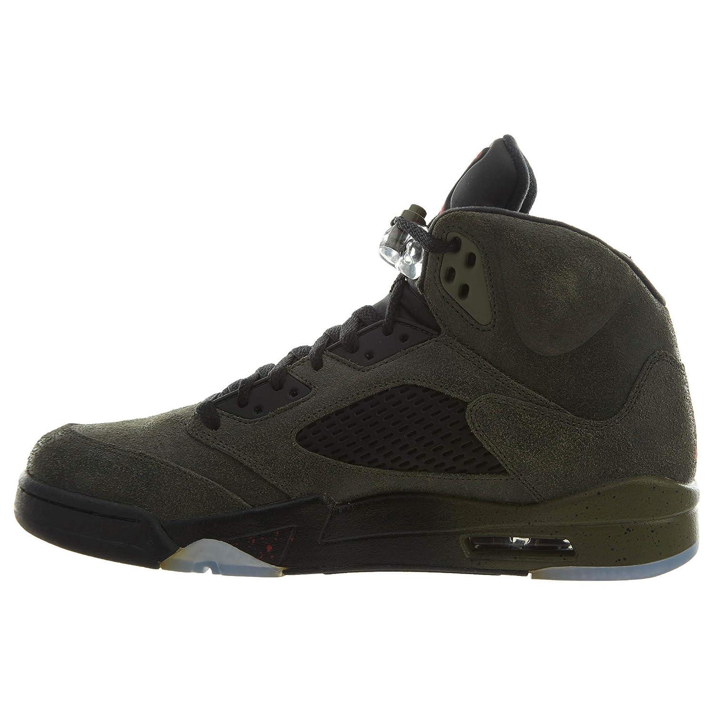 premium selection 24c2c b9791 Amazon.com   NIKE Air Jordan Air Jordan 5 Retro  Fear  Mens Sneakers in  Grey Mens Style  626971-350 Size  10.5   Shoes