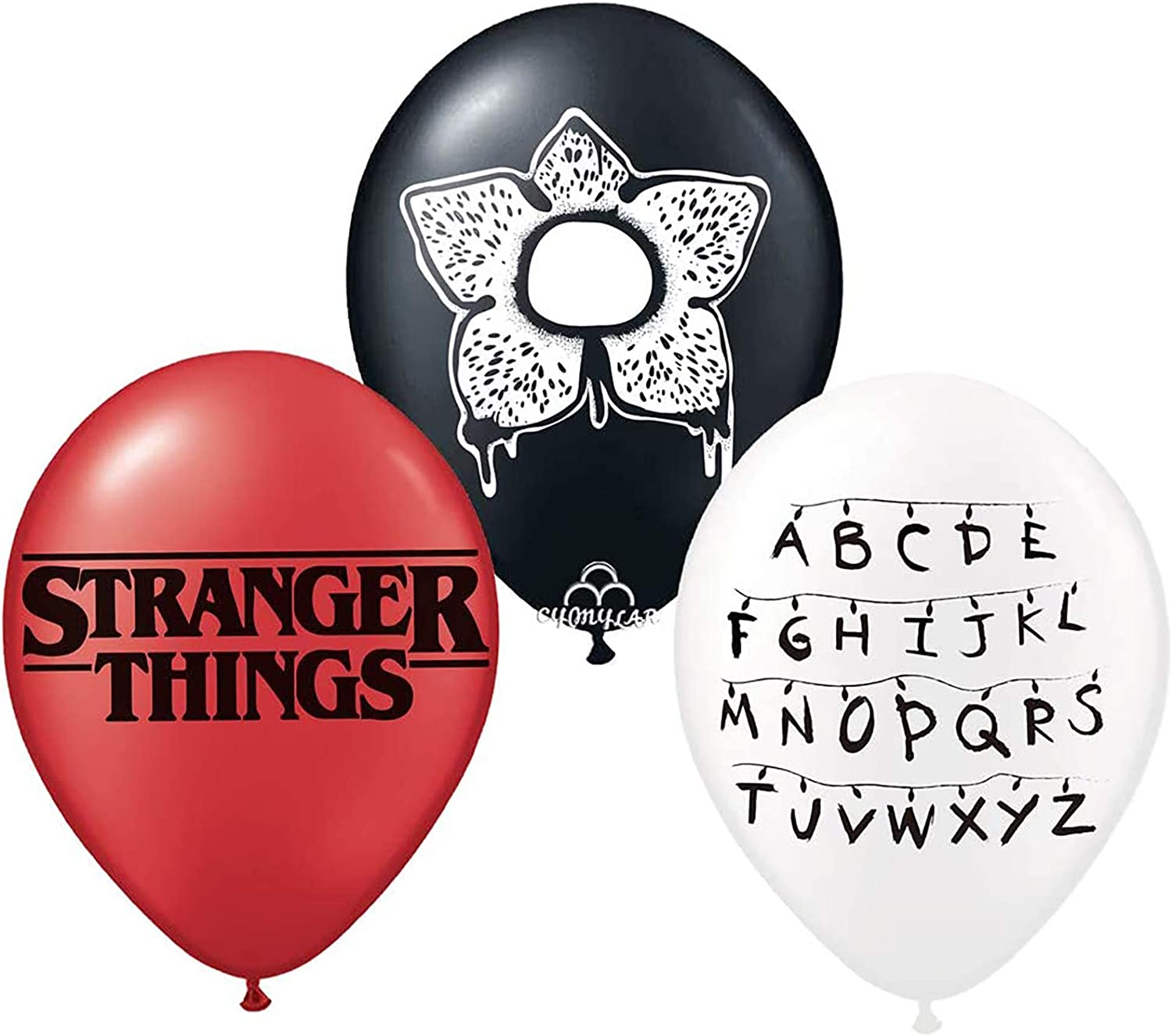 12 inch Stranger Things Latex Balloons,Themed Birthday Party Supplies,Stranger Party Decoration (24 pcs)