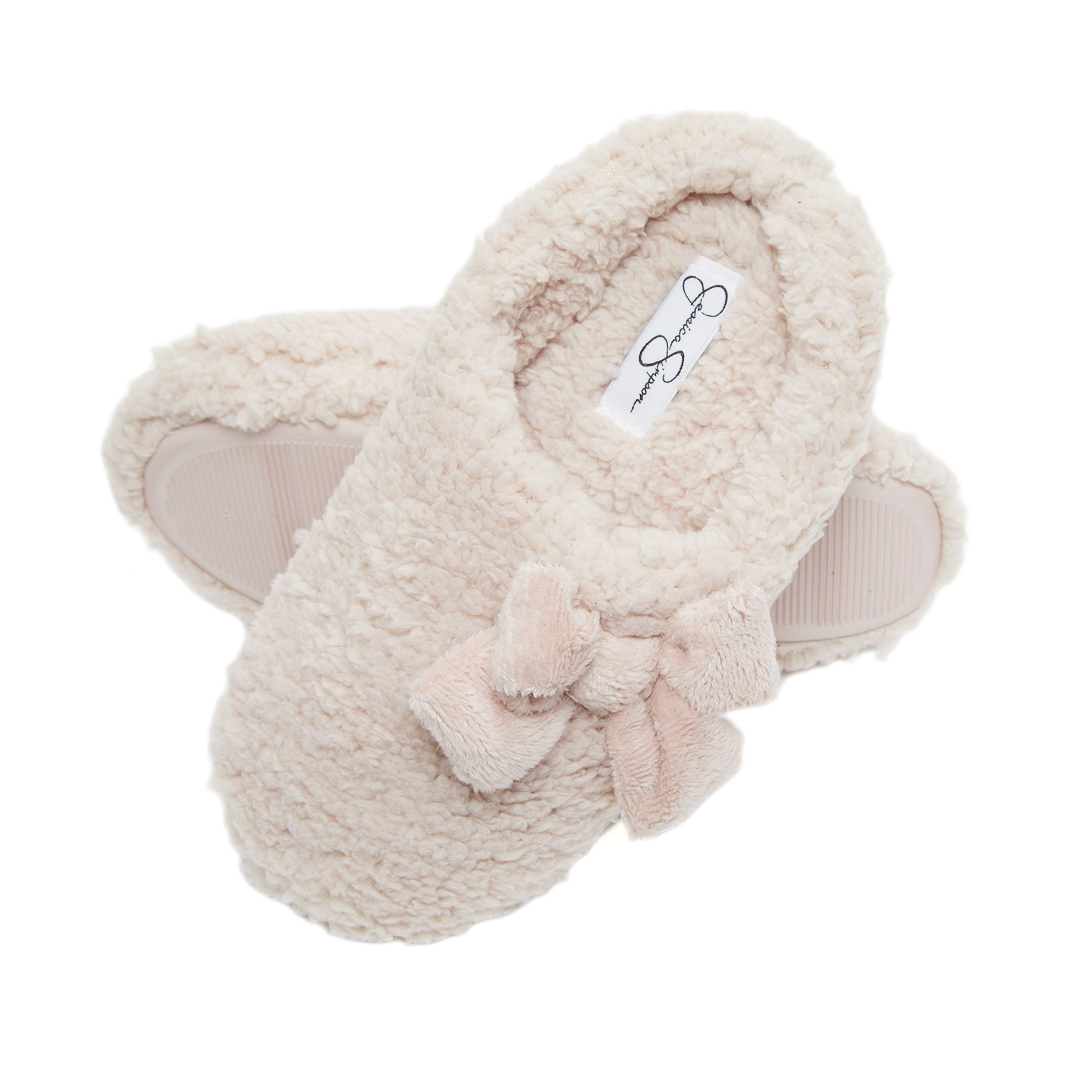 Jessica Simpson Womens Plush Marshmallow Slide On House Slipper Clog with Memory Foam (Size Medium, Pink) by Jessica Simpson