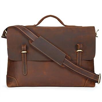 Porte-documents pour Hommes Unives Véritable Cuir Sac à Bandoulière Messenger Bag Business Sac pour Ordinateur Portable xXVlt24K2