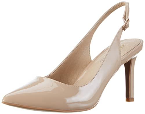 TG.36 Buffalo Shoes H733c117 P2010f Pu Patent Scarpe Col Tacco con Cinturino
