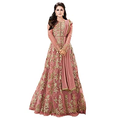 Royal Export Women's Net Dress Material Women's Ethnic Unstitched Fabric at amazon