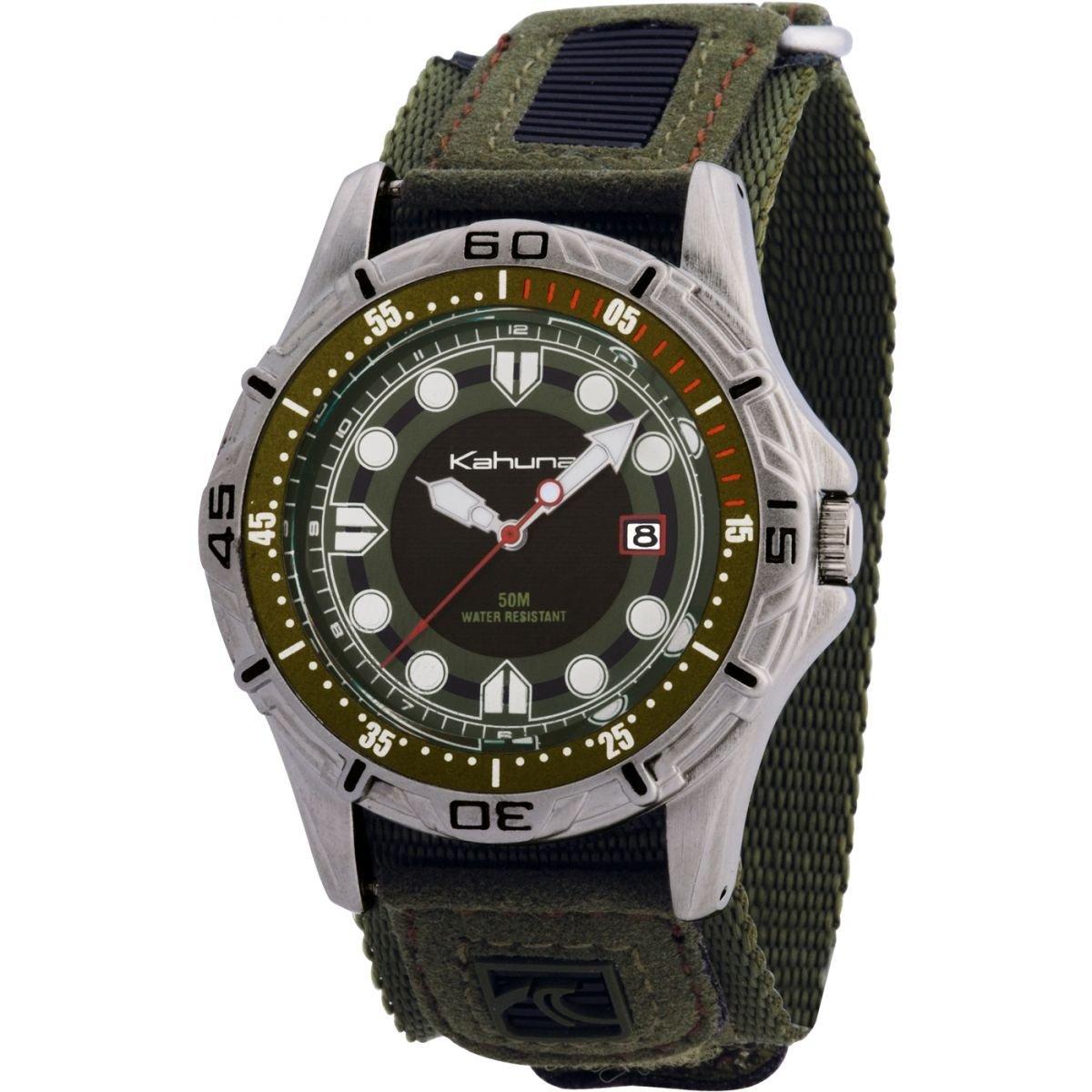 Kahuna K5V-0003G - Reloj analógico de caballero de cuarzo con correa verde
