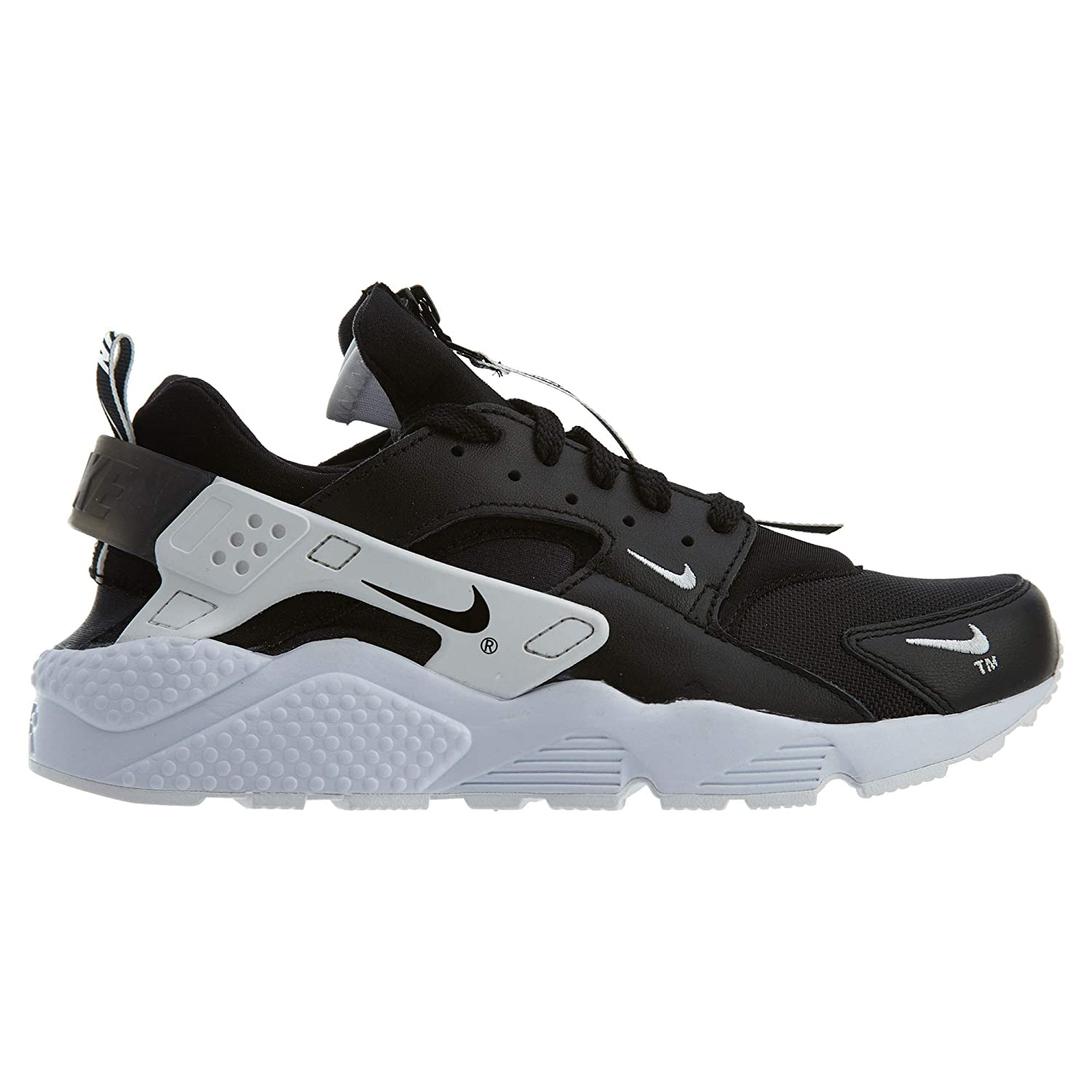 16d3645b8 Amazon.com | Nike Air Huarache Run PRM Zip Mens Bq6164-001 Size 14  Black/Black-White | Road Running