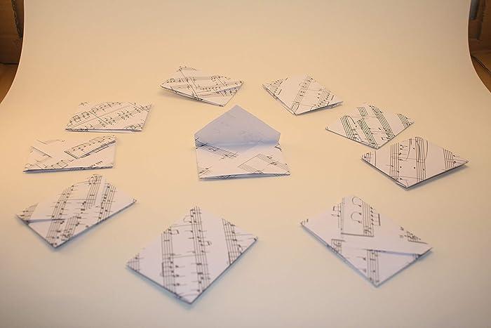 10 Mini Briefumschlage Geldgeschenk Noten Amazon De Handmade