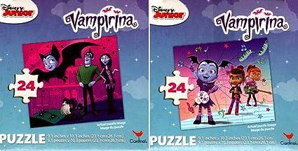 Amazon Com Disney Junior Vampirina 24 Pieces Jigsaw Puzzle Set